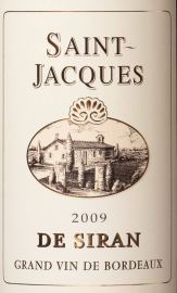 Saint-Jacques de Siran Bordeaux Superieur 75cl